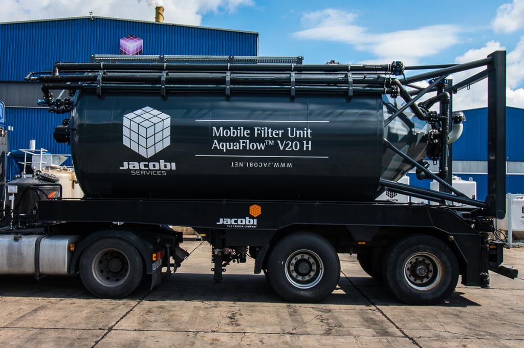 Aktivt kul til jordoprensning - Jacobi Truck